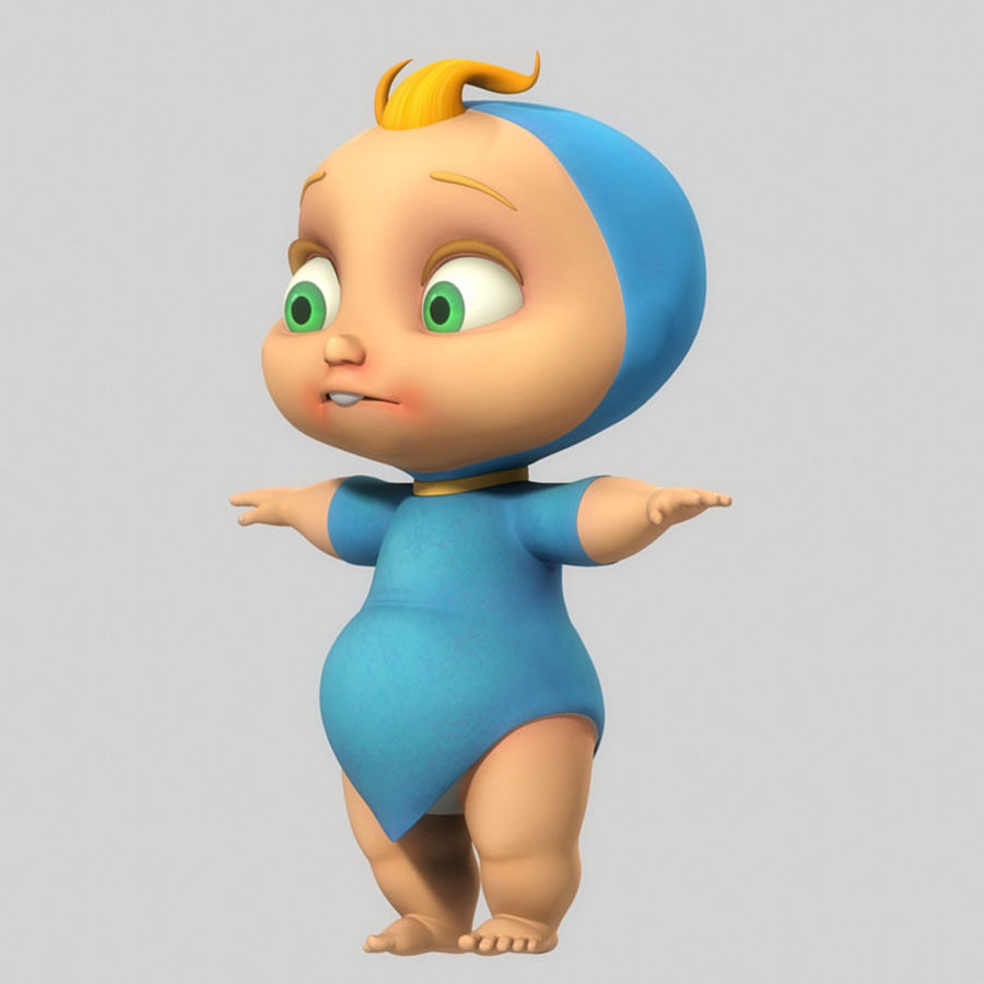 Cartoon Baby royalty-free 3d model - Preview no. 4
