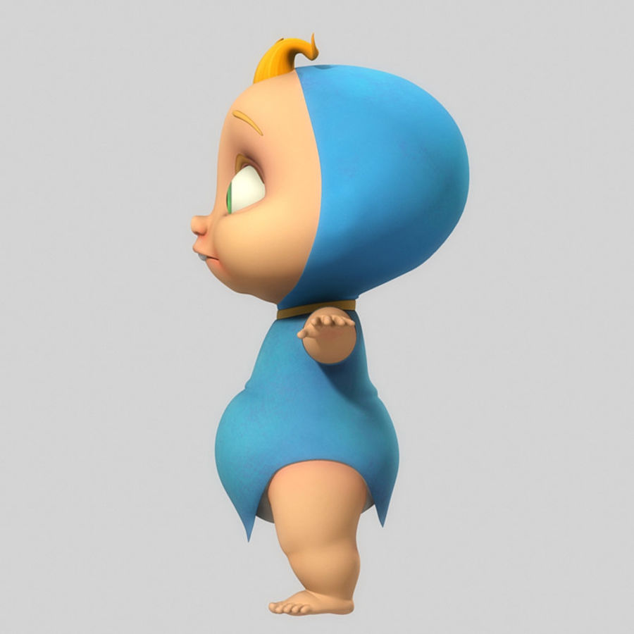 Cartoon Baby royalty-free 3d model - Preview no. 2