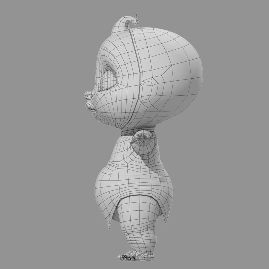 Cartoon Baby royalty-free 3d model - Preview no. 7