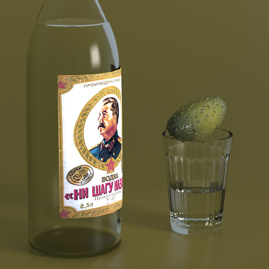 Russian Vodka royalty-free 3d model - Preview no. 4
