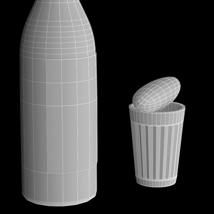Russian Vodka royalty-free 3d model - Preview no. 9
