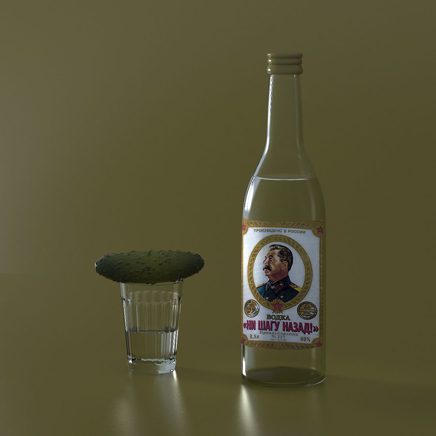 Russian Vodka royalty-free 3d model - Preview no. 7