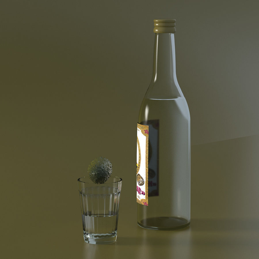 Russian Vodka royalty-free 3d model - Preview no. 5