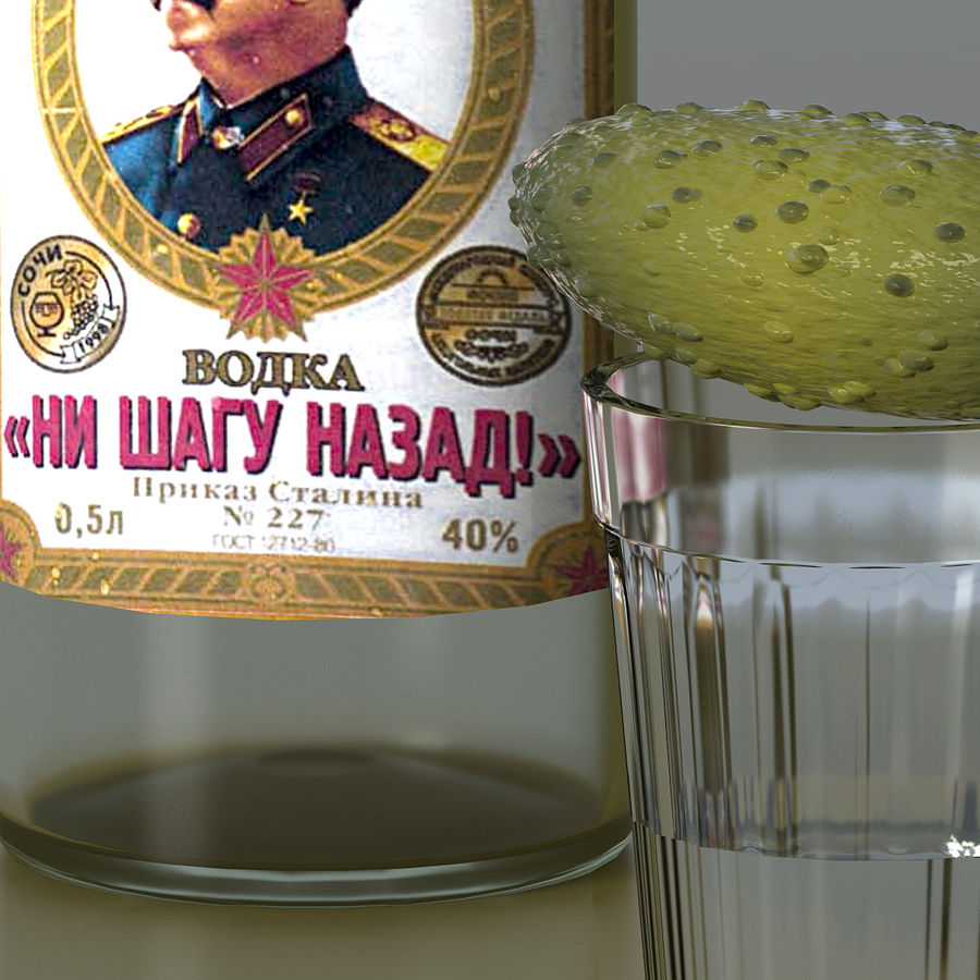 Russian Vodka royalty-free 3d model - Preview no. 6