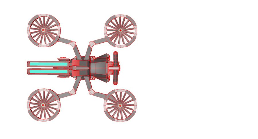 Sci-Fi Drone royalty-free 3d model - Preview no. 16