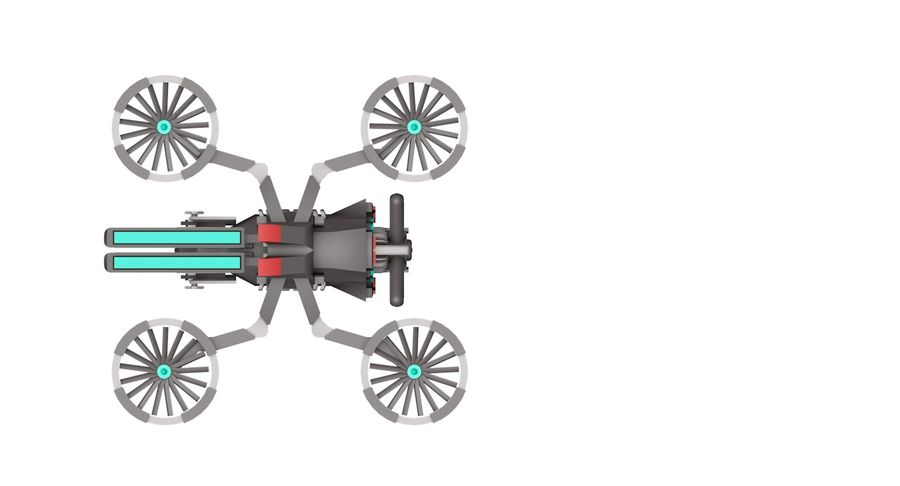 Sci-Fi Drone royalty-free 3d model - Preview no. 8