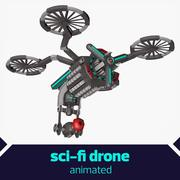 Drone de science-fiction 3d model