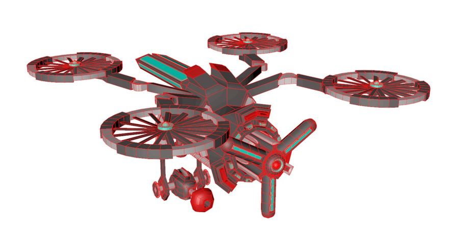 Sci-Fi Drone royalty-free 3d model - Preview no. 12