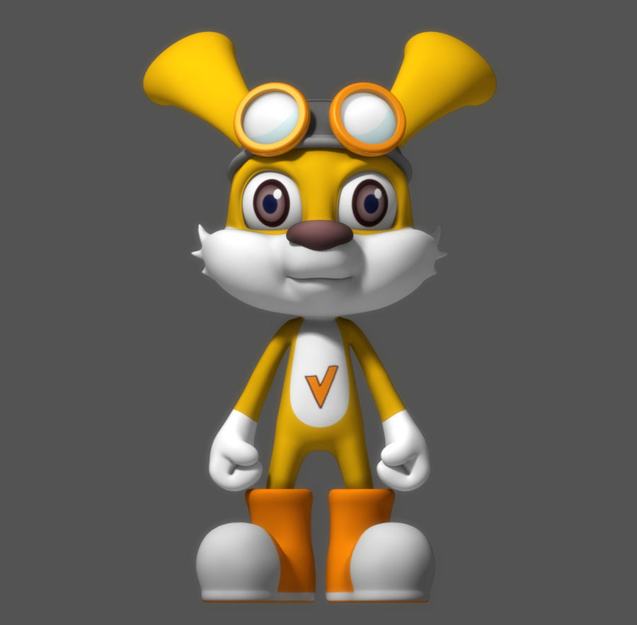 Cartoon Rabbit royalty-free 3d model - Preview no. 1