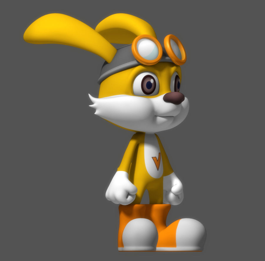 Cartoon Rabbit royalty-free 3d model - Preview no. 4