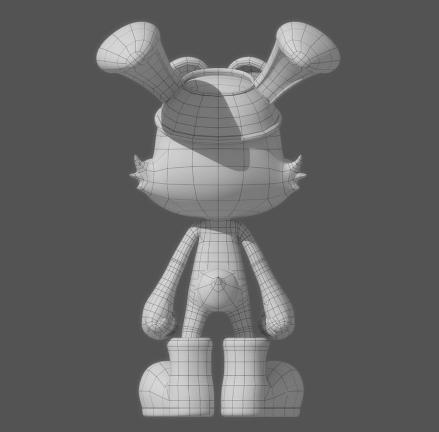Cartoon Rabbit royalty-free 3d model - Preview no. 7