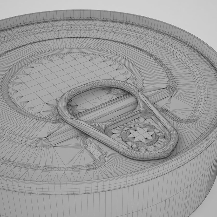 Food Can 03 royalty-free 3d model - Preview no. 16