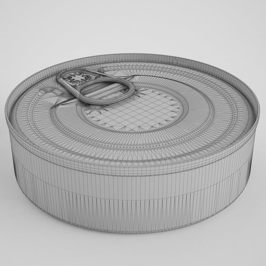 Food Can 03 royalty-free 3d model - Preview no. 4