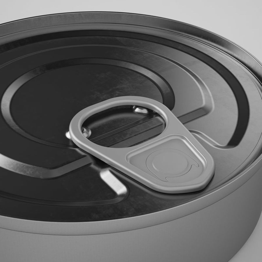 Food Can 03 royalty-free 3d model - Preview no. 15