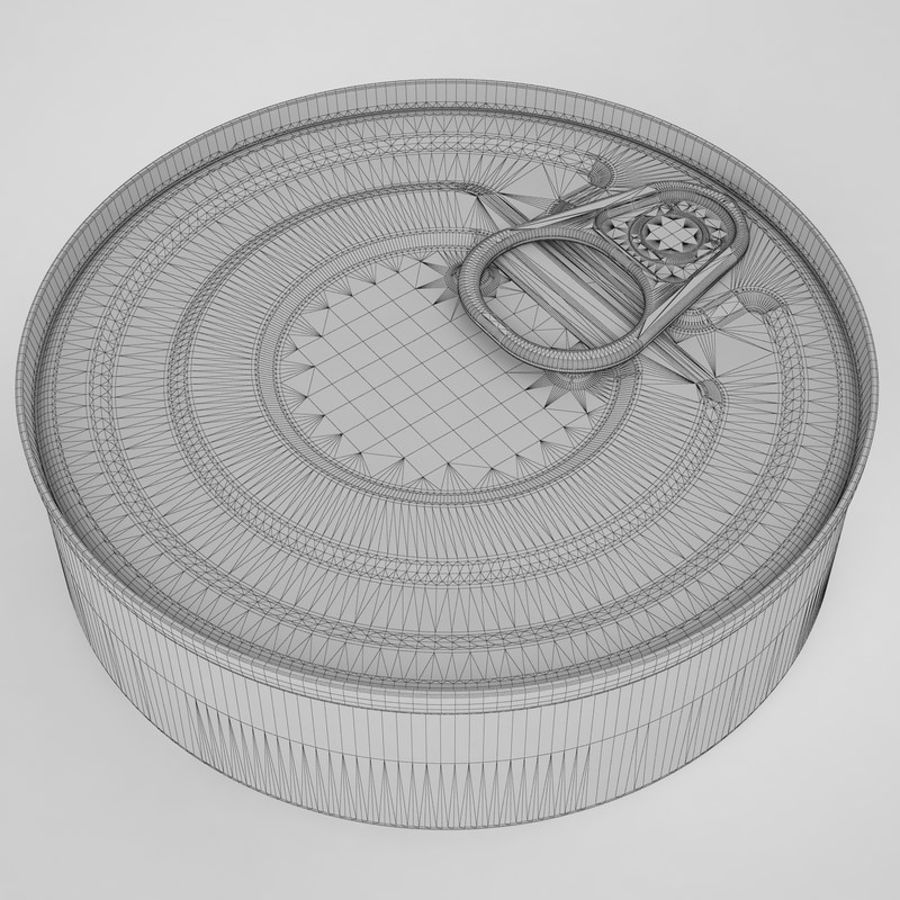 Food Can 03 royalty-free 3d model - Preview no. 10