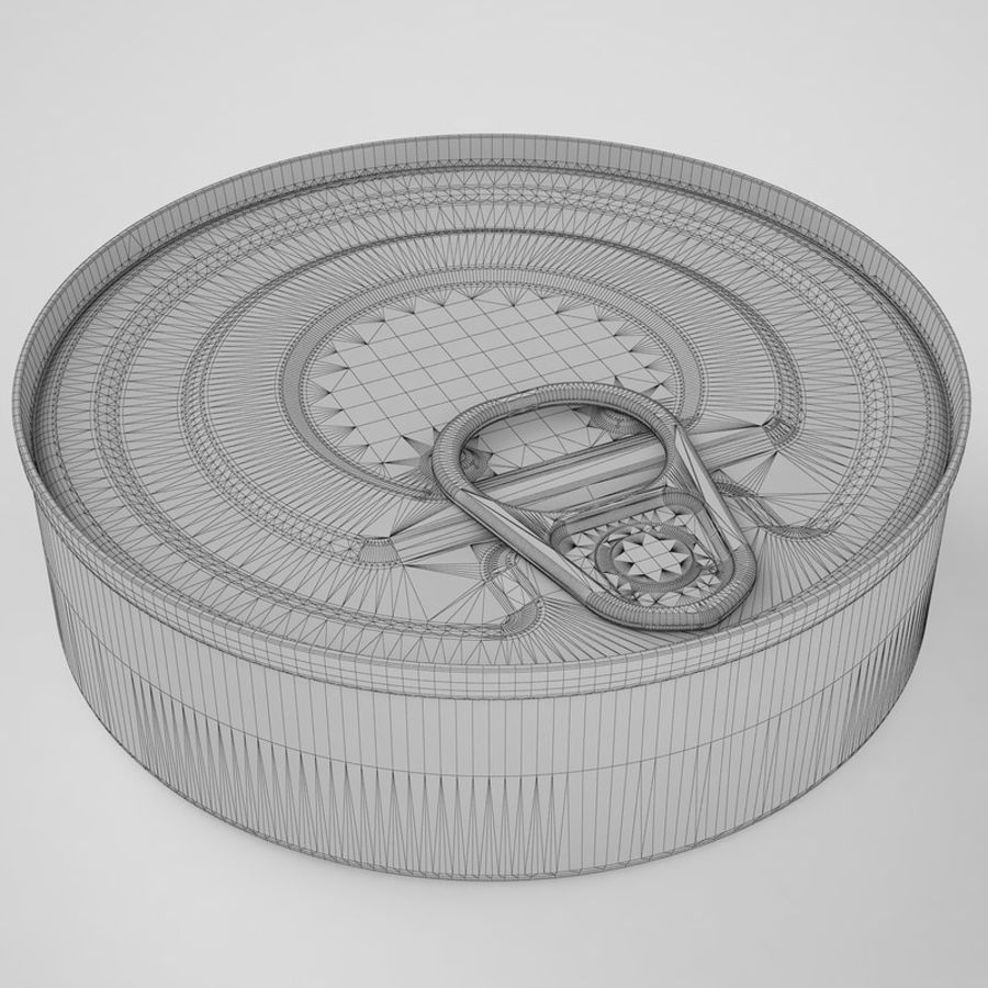 Food Can 03 royalty-free 3d model - Preview no. 12