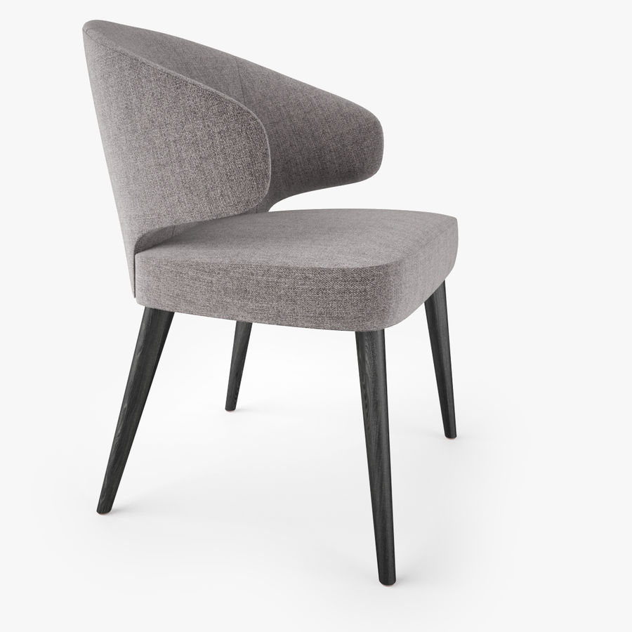 Minotti Aston Dining Armchair royalty-free 3d model - Preview no. 3