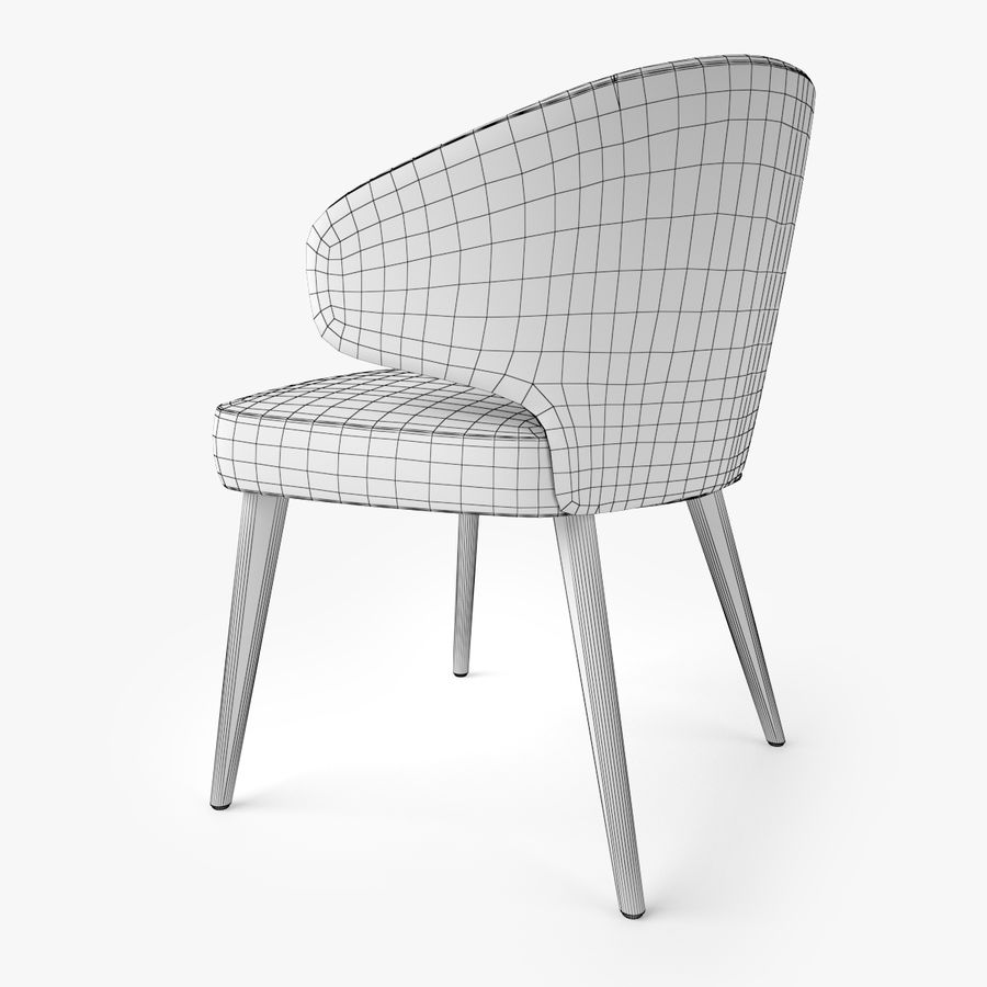 Minotti Aston Dining Armchair royalty-free 3d model - Preview no. 7