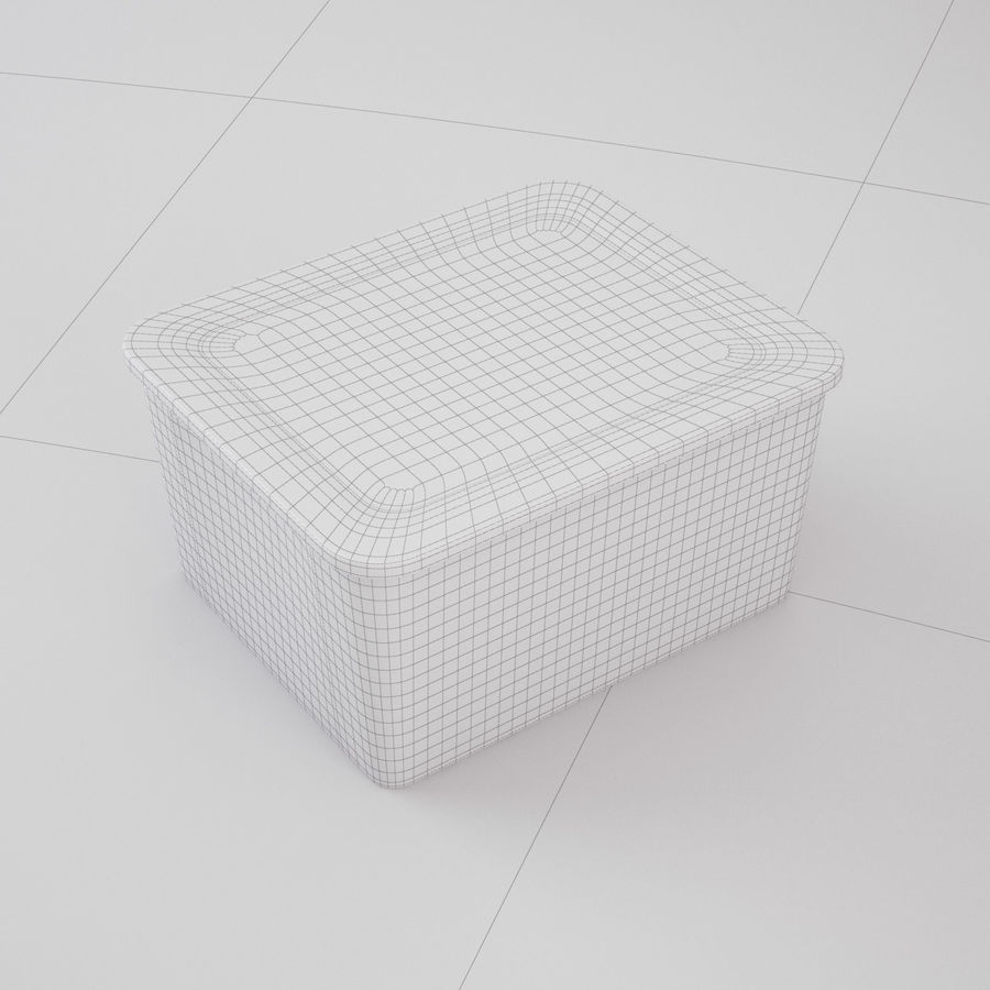 Plastic Box 1 royalty-free 3d model - Preview no. 20