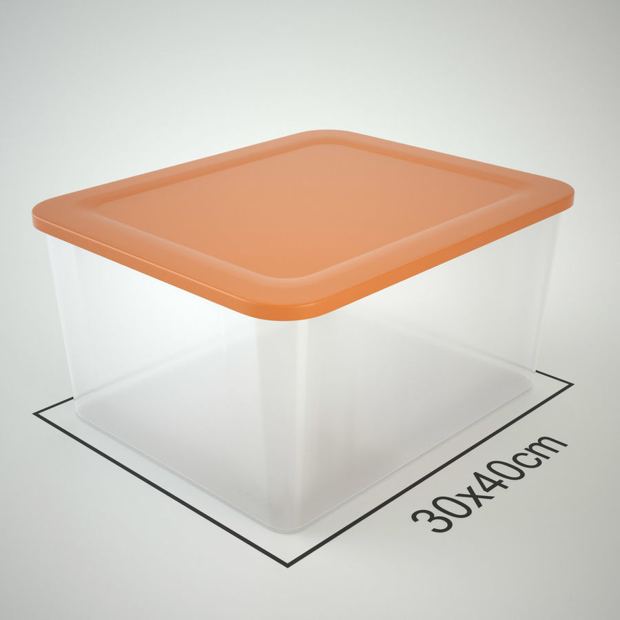 Plastic Box 1 royalty-free 3d model - Preview no. 13
