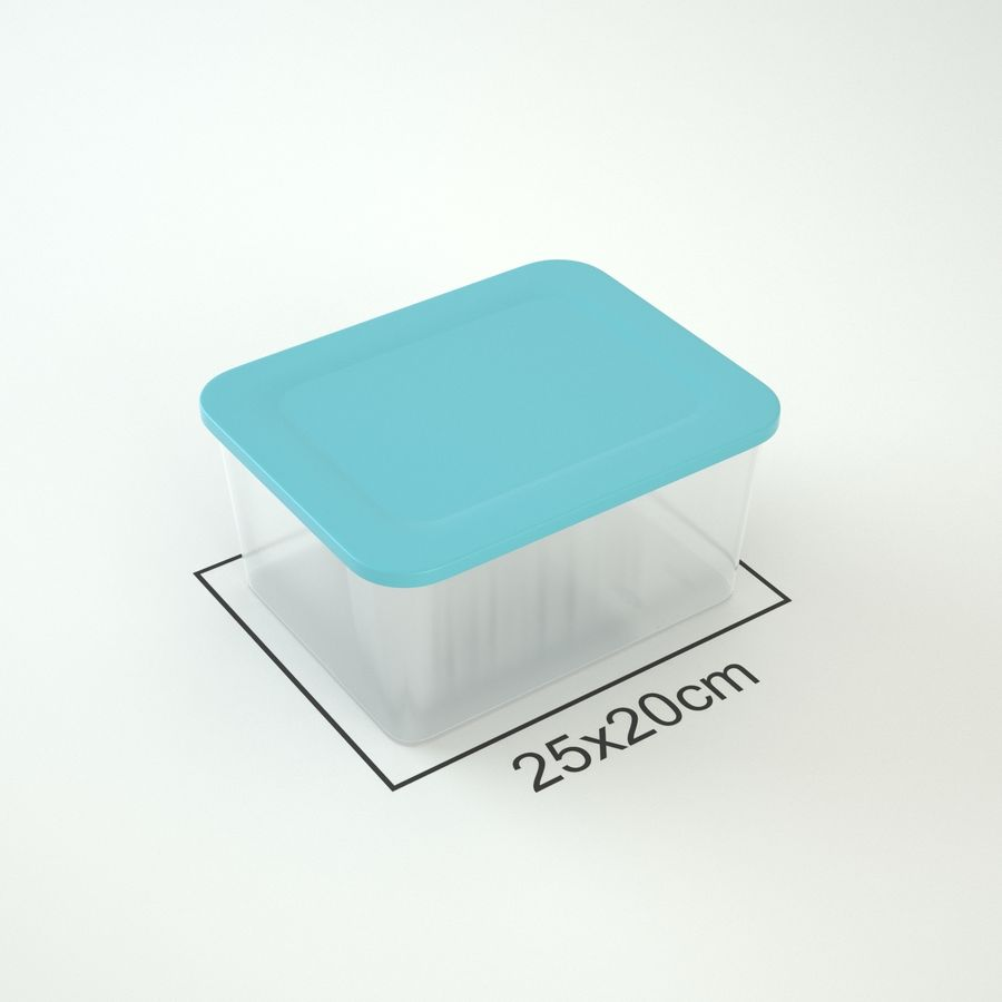 Plastic Box 1 royalty-free 3d model - Preview no. 5