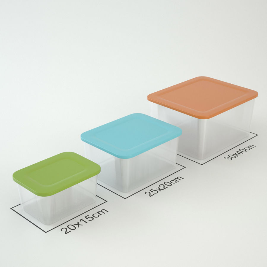 Plastic Box 1 royalty-free 3d model - Preview no. 1