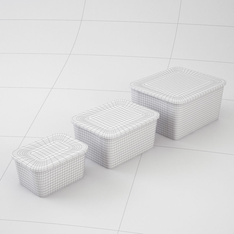 Plastic Box 1 royalty-free 3d model - Preview no. 23