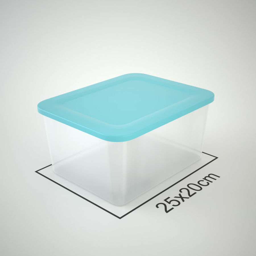 Plastic Box 1 royalty-free 3d model - Preview no. 14
