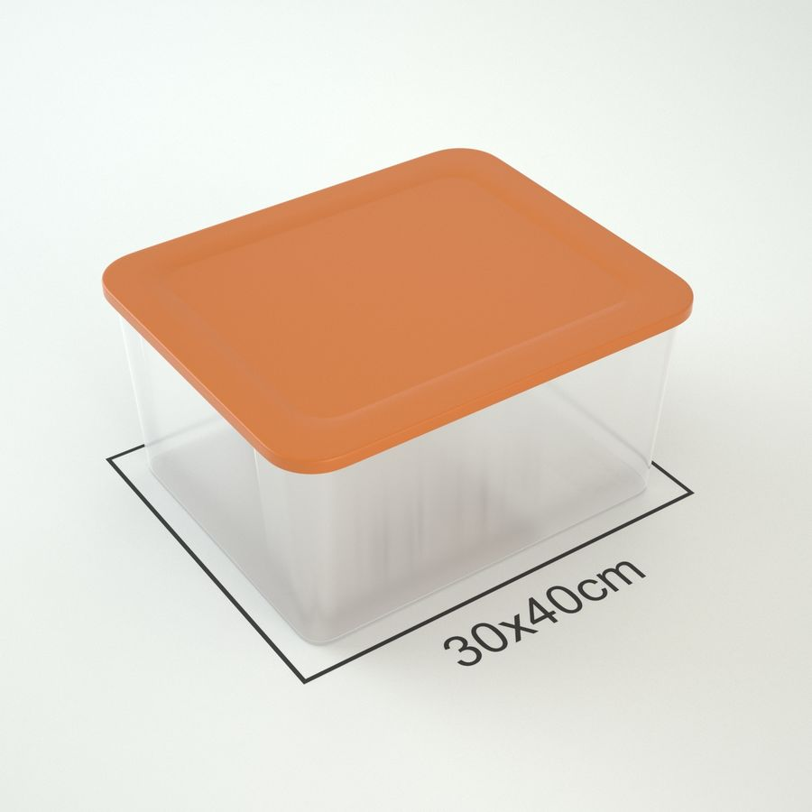 Plastic Box 1 royalty-free 3d model - Preview no. 4