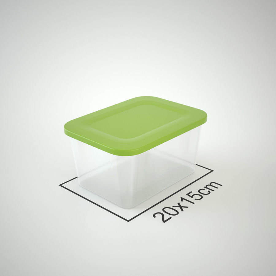 Plastic Box 1 royalty-free 3d model - Preview no. 15