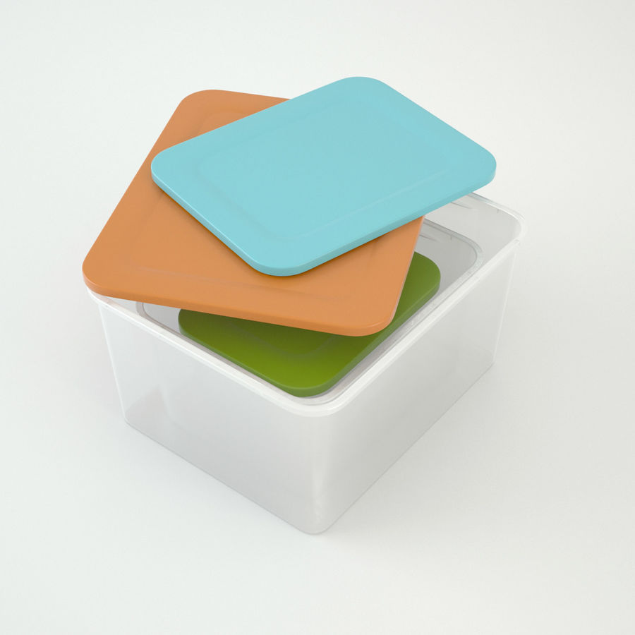 Plastic Box 1 royalty-free 3d model - Preview no. 3