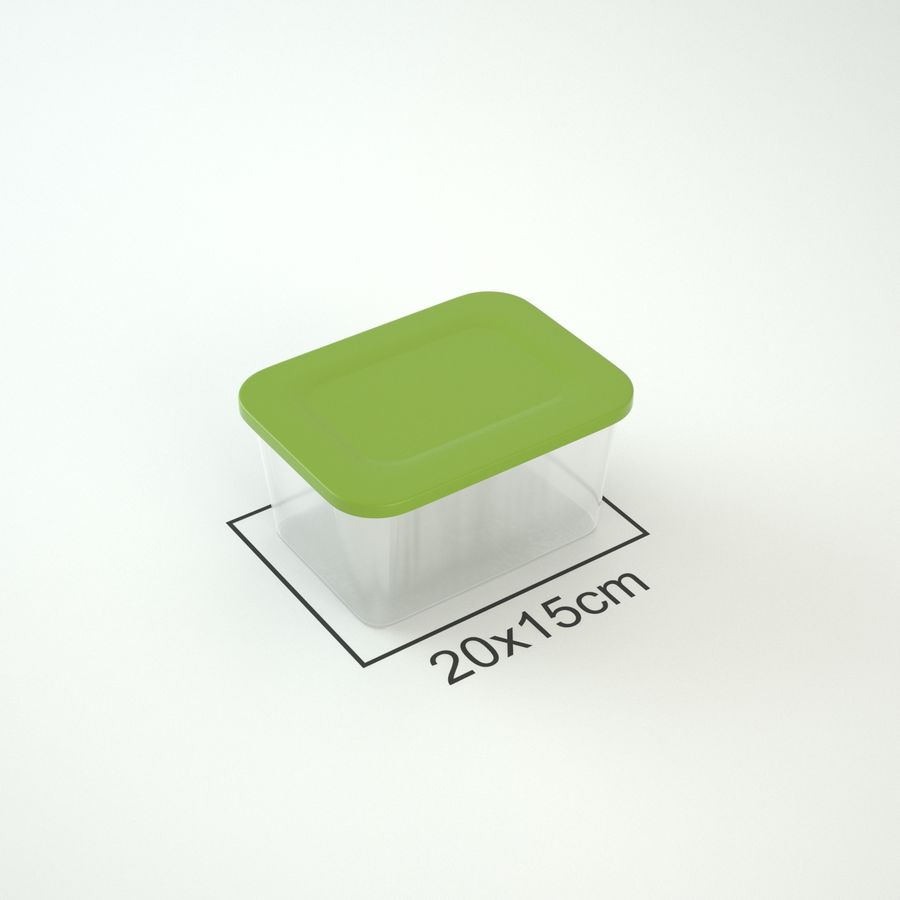 Plastic Box 1 royalty-free 3d model - Preview no. 6