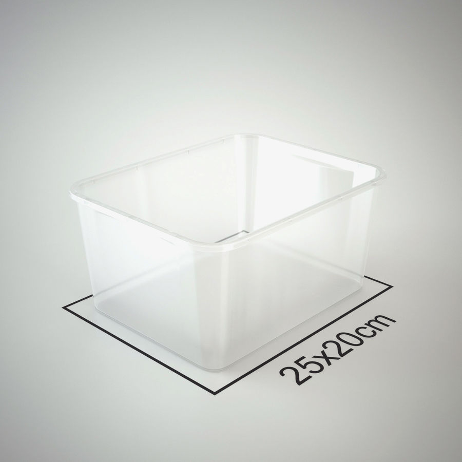 Plastic Box 1 royalty-free 3d model - Preview no. 17