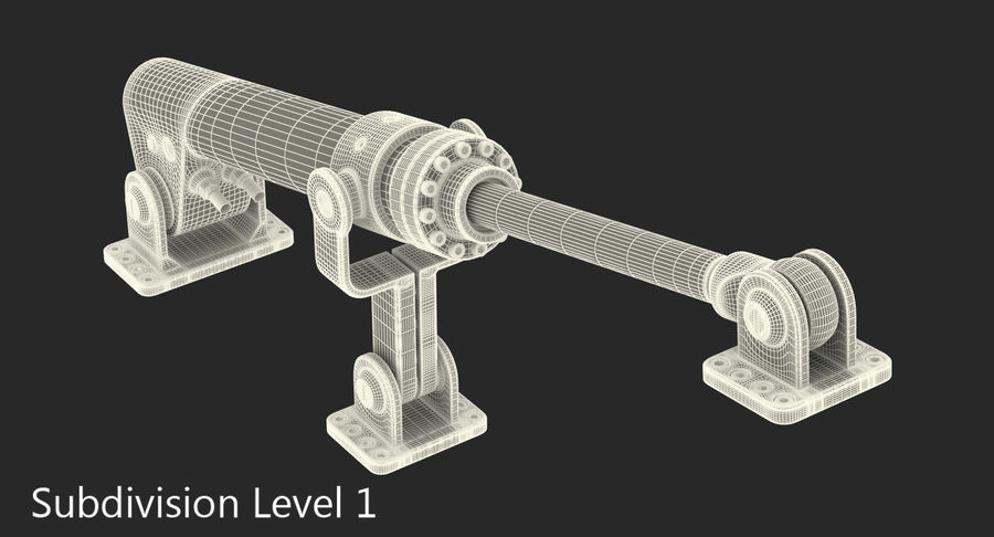 Anodowany cylinder hydrauliczny 8 royalty-free 3d model - Preview no. 19