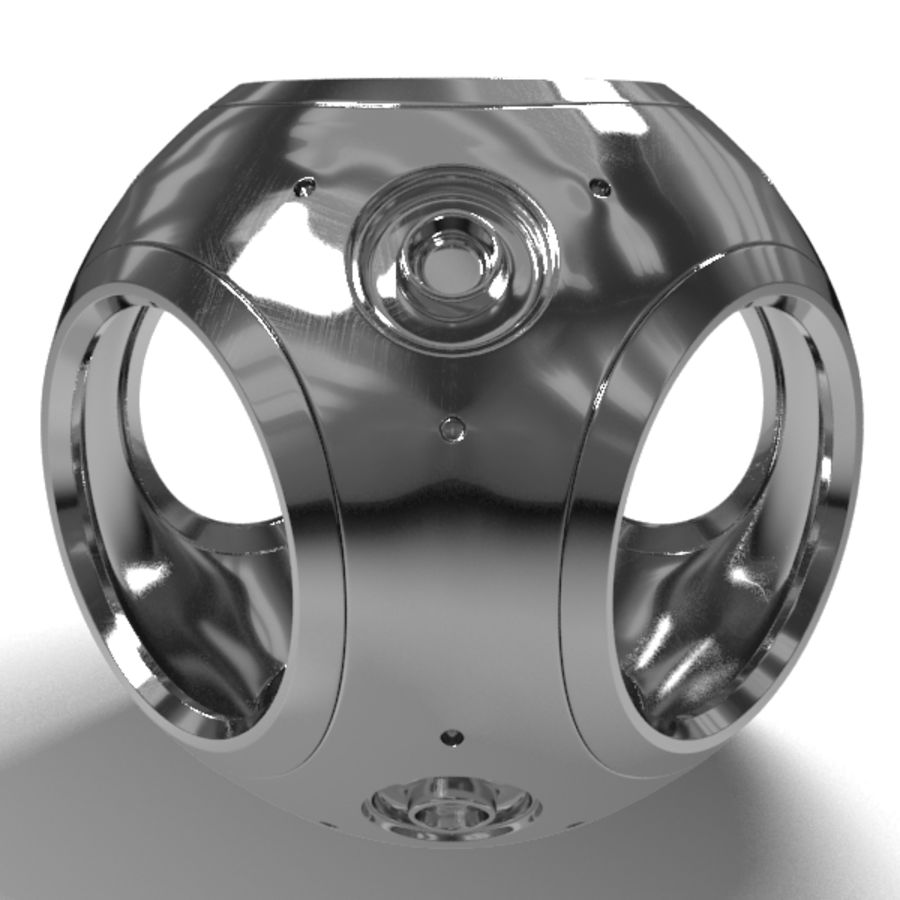 Metal Sphere royalty-free 3d model - Preview no. 4