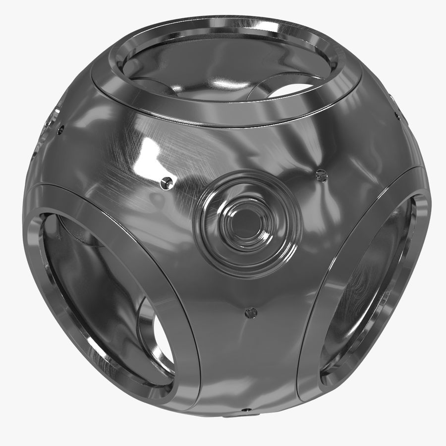 Metal Sphere royalty-free 3d model - Preview no. 1