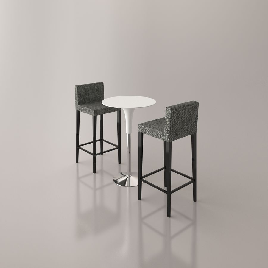 Bar stoel en tafel royalty-free 3d model - Preview no. 15