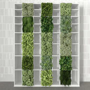 Bookshelf with vertical garden 3d model