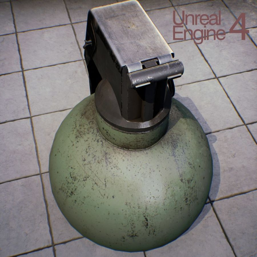 Grenade old royalty-free 3d model - Preview no. 14