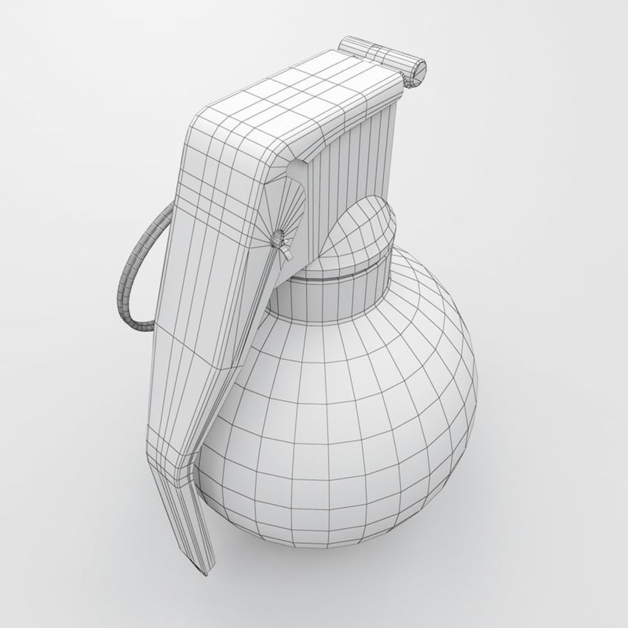 Grenade old royalty-free 3d model - Preview no. 8
