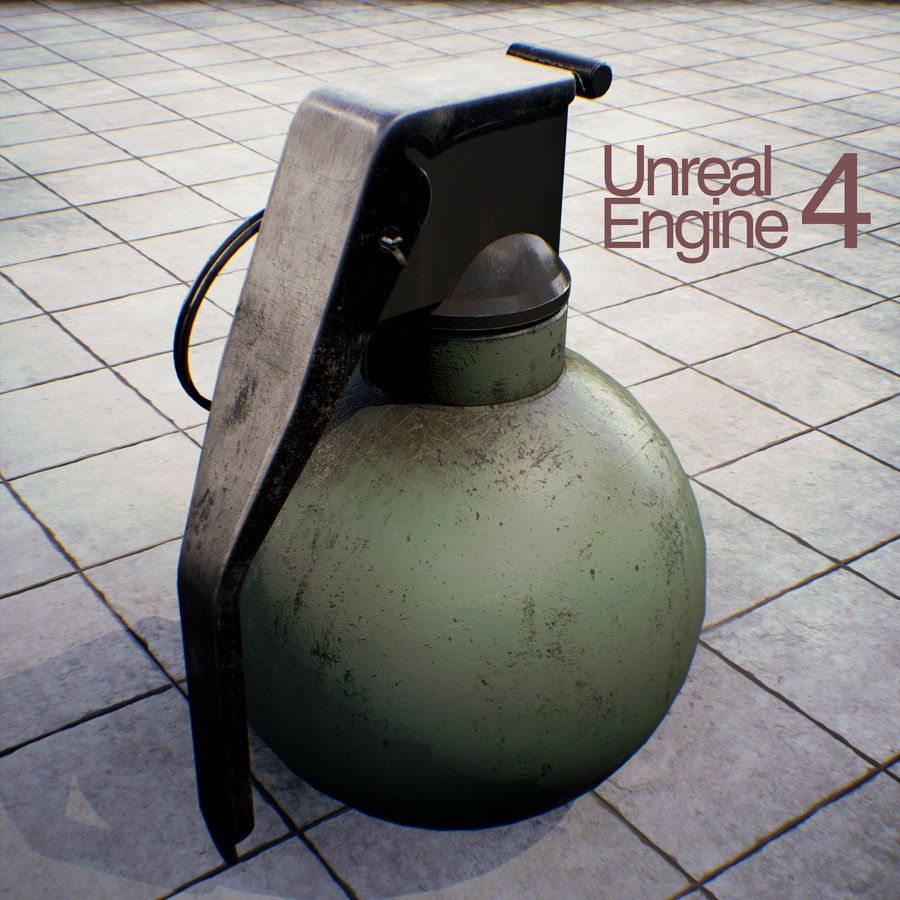Grenade old royalty-free 3d model - Preview no. 13