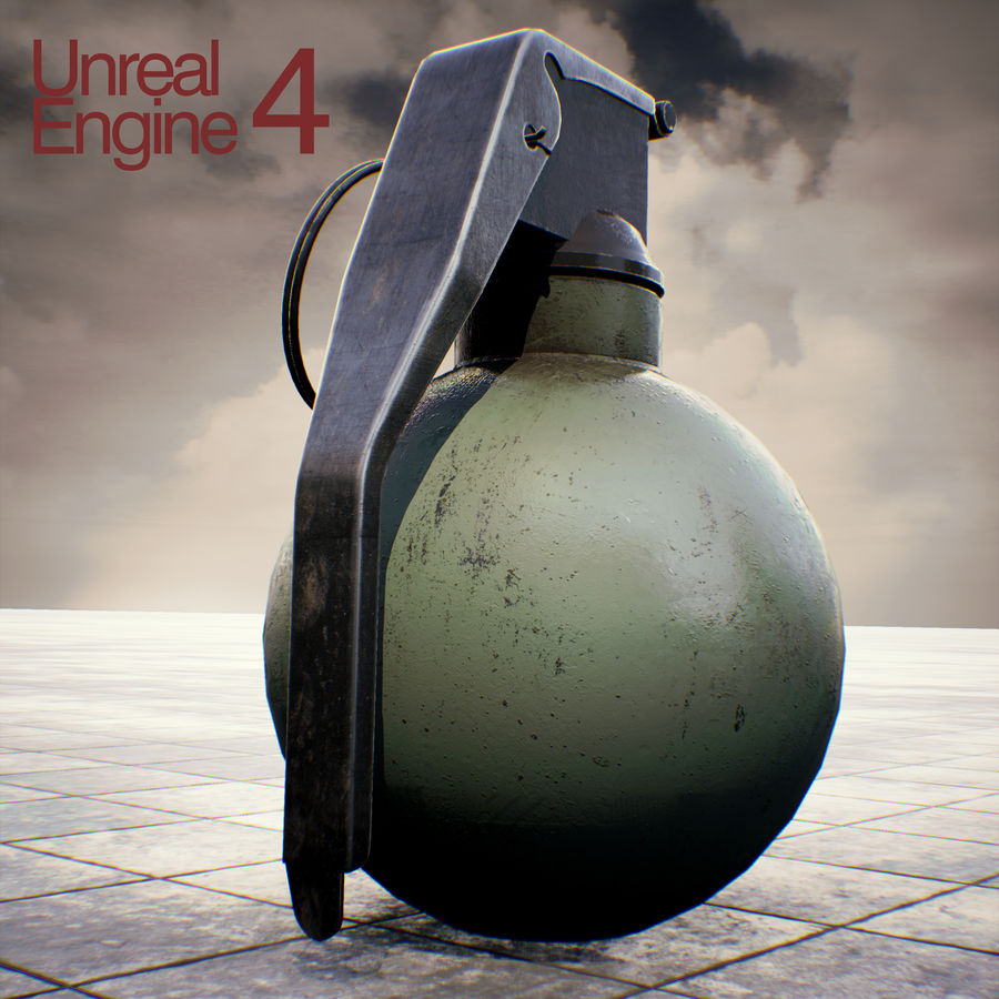 Grenade old royalty-free 3d model - Preview no. 15