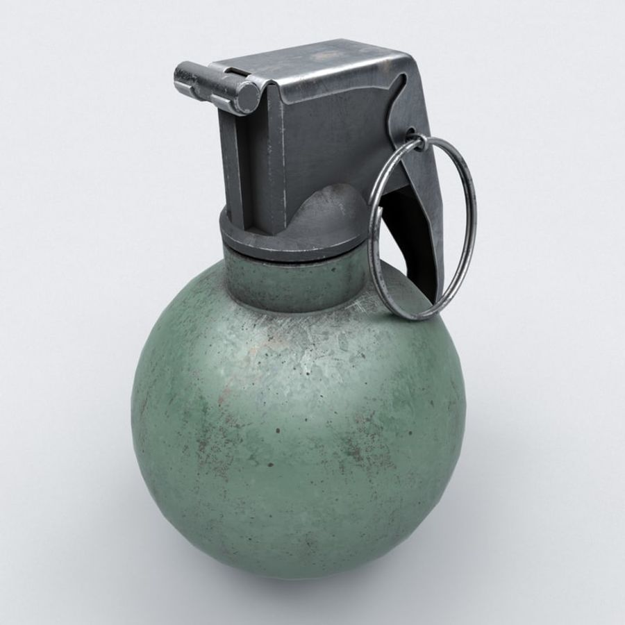 Grenade old royalty-free 3d model - Preview no. 4