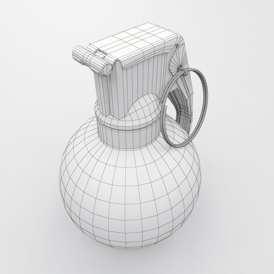 Grenade old royalty-free 3d model - Preview no. 7