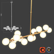 Bubble stik cold chandelier 3d model