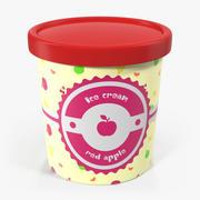 Ice Cream Pint Tub Red Apple 3d model