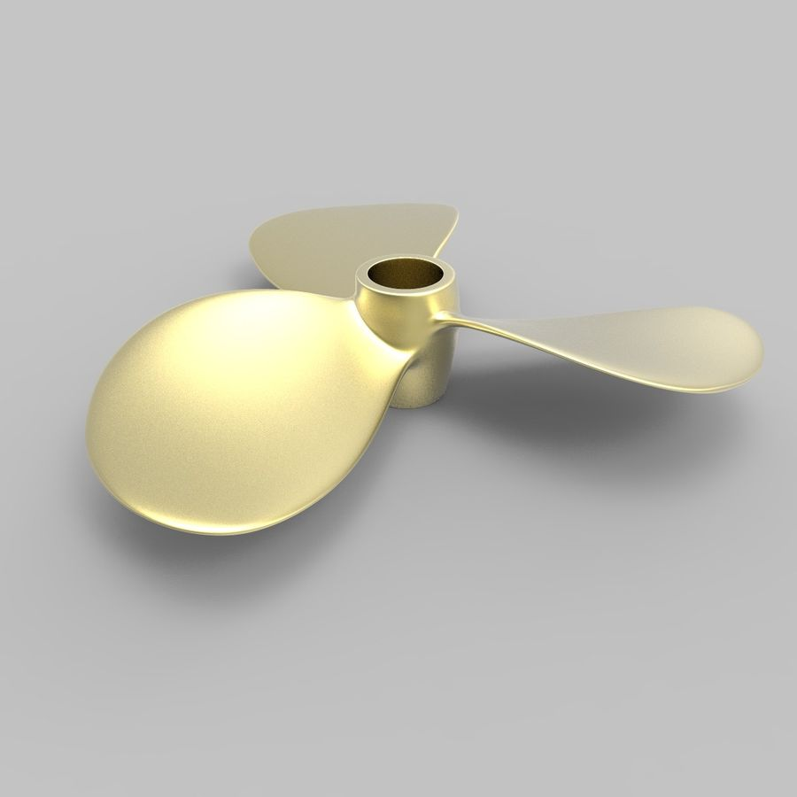 Propeller 3 Blades royalty-free 3d model - Preview no. 4