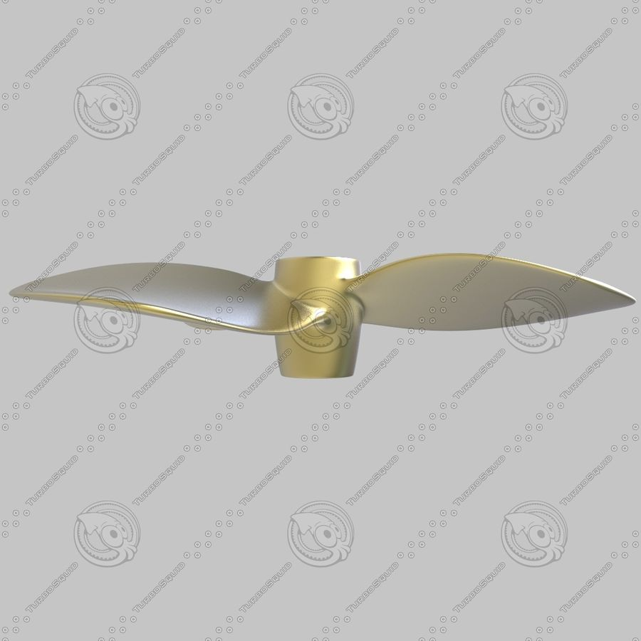 Propeller 3 Blades royalty-free 3d model - Preview no. 8