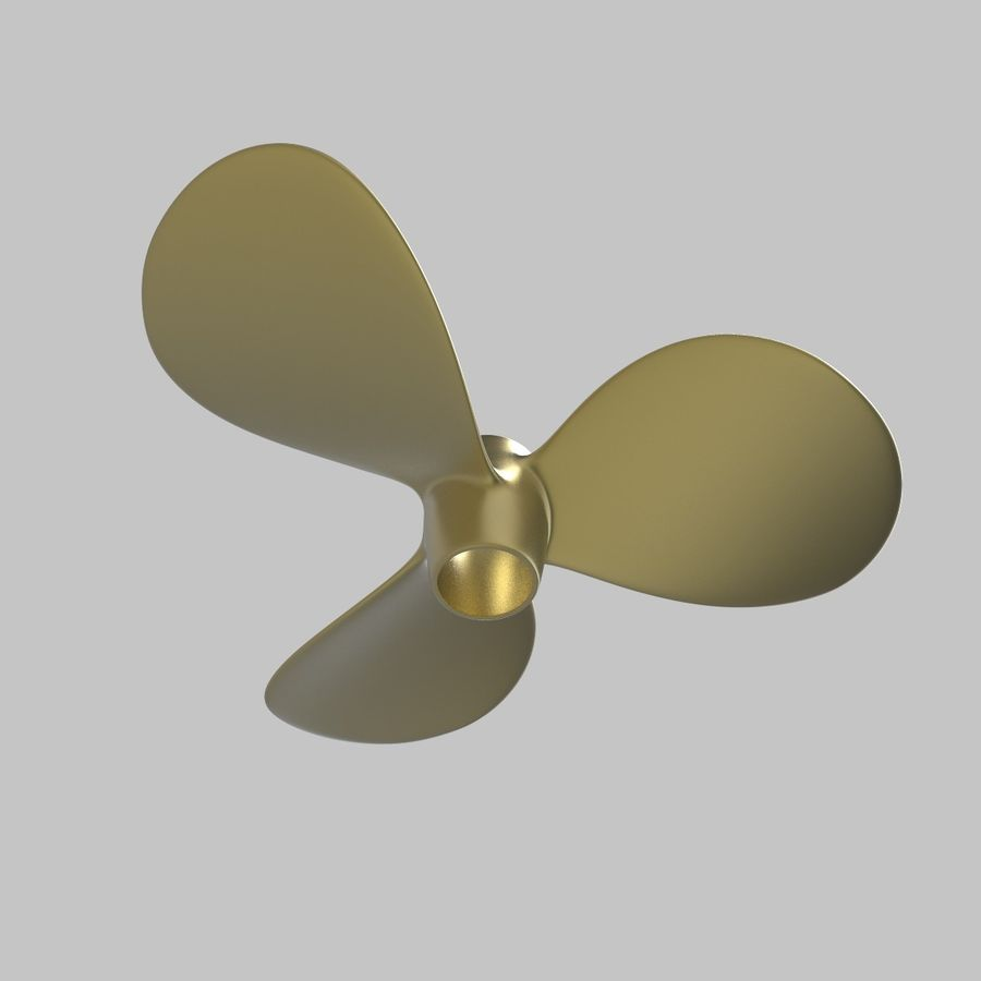 Propeller 3 Blades royalty-free 3d model - Preview no. 6