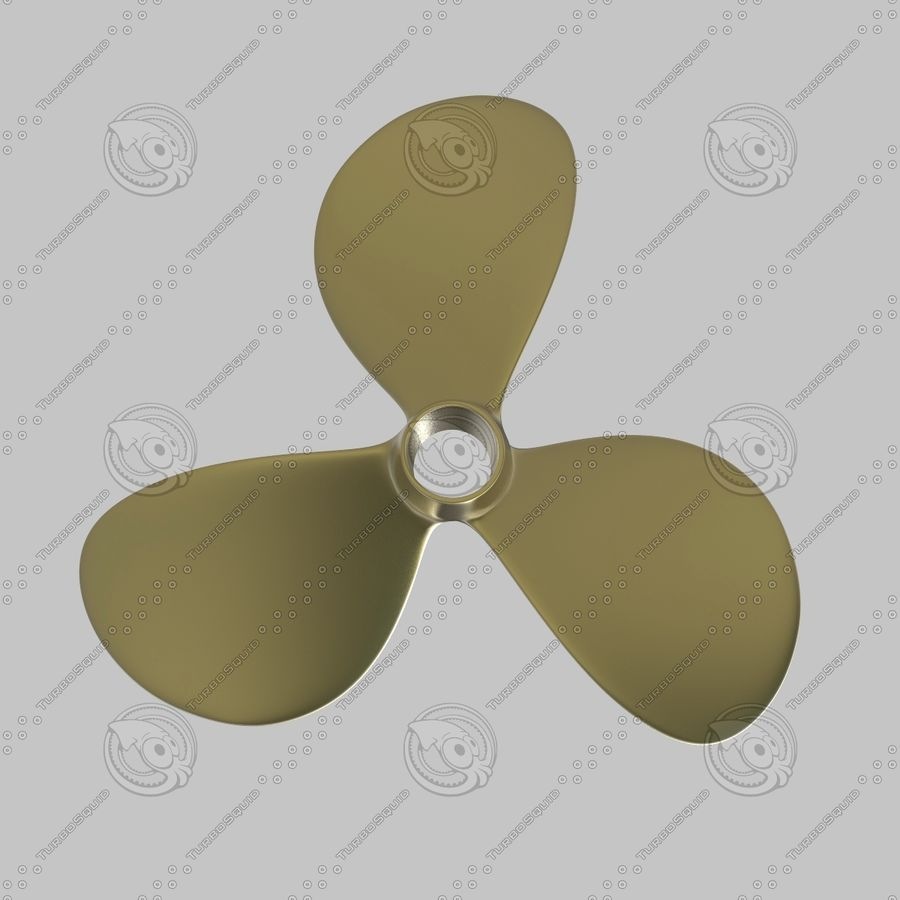 Propeller 3 Blades royalty-free 3d model - Preview no. 7